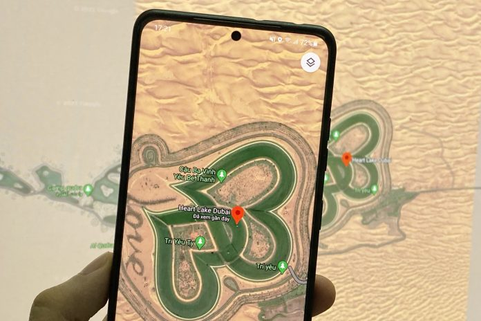 love lake dubai map